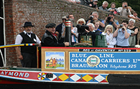 David Suchet opening the Braunston Boat Show
