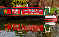 Narrow boat cabin
