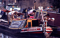 Working narrow boats - Stoke Bruerne