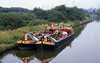 Working narrowboat pair - Hawkesbury - 1968