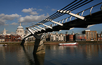 Millennium footbridge and St Paul's Cathedral
